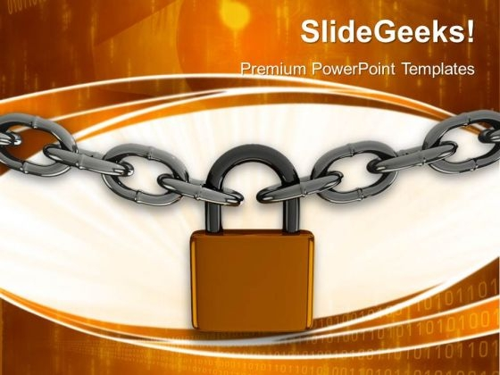 Pad Lock Security PowerPoint Templates And PowerPoint Themes 0512