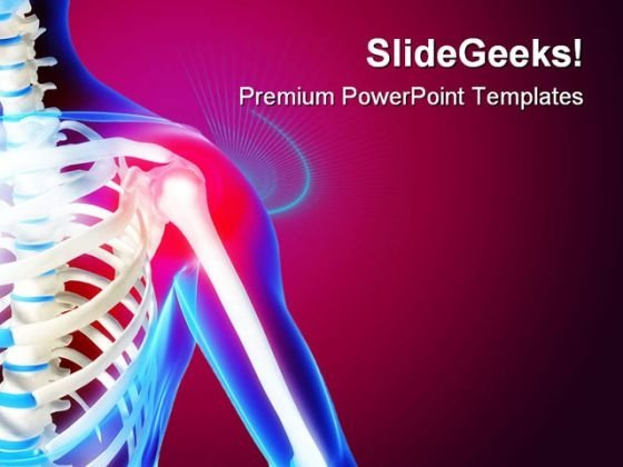 Pain In The Shoulder Medical PowerPoint Templates And PowerPoint Backgrounds 0211