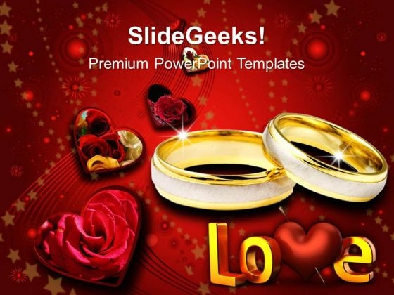 Pair Of Rings Wedding PowerPoint Templates And PowerPoint Themes 0612