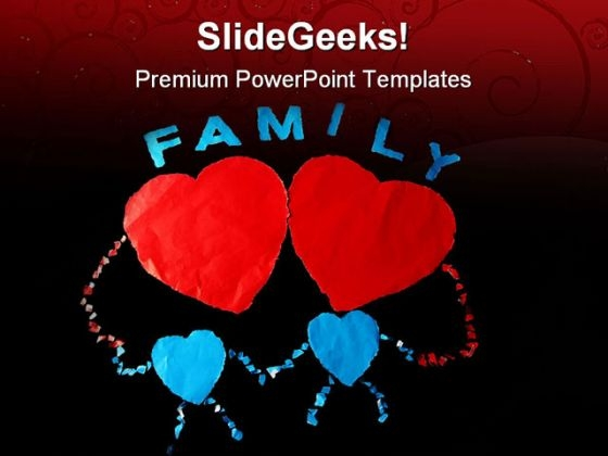 Paper Family PowerPoint Themes And PowerPoint Slides 0811