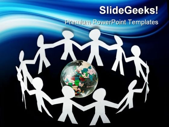 Paper Little People Global PowerPoint Themes And PowerPoint Slides 0411