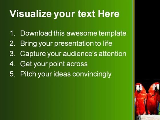 parrots_animals_powerpoint_template_0910_text