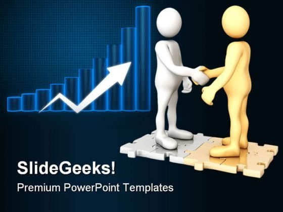 Partnership Business Handshake PowerPoint Themes And PowerPoint Slides 0411