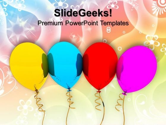 Party Balloons Gift Festival PowerPoint Templates And PowerPoint Themes 1012