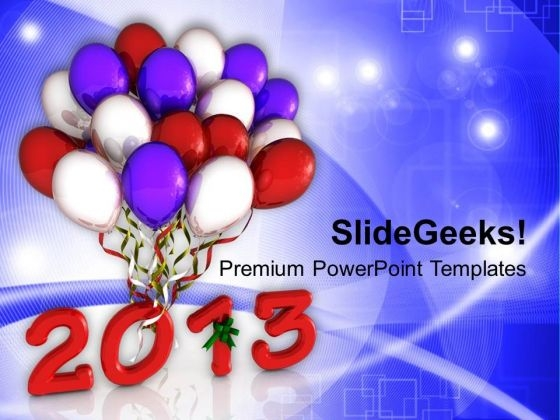 Party Balloons New Year PowerPoint Templates Ppt Backgrounds For Slides 1212