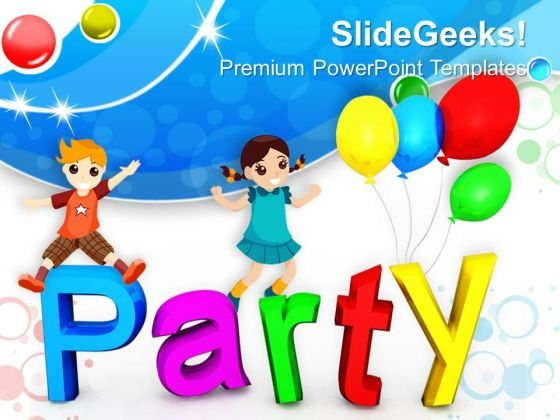 Party Blue Water Waves Abstract PowerPoint Templates And PowerPoint Themes 0912