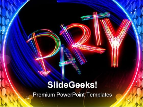 Party Entertainment PowerPoint Themes And PowerPoint Slides 0511