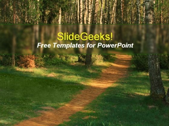 Forest Path PowerPoint Template