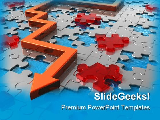 Path Across Puzzle Labyrinth Business PowerPoint Templates And PowerPoint Backgrounds 0411