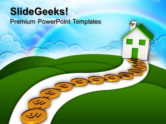 Path To Home Real Estate Concept Business PowerPoint Templates And PowerPoint Themes 1012