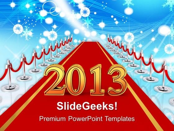 Path To New Year Celebration Events PowerPoint Templates Ppt Backgrounds For Slides 1212