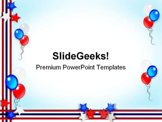 Patriotic Border Americana PowerPoint Templates And PowerPoint Backgrounds 0711