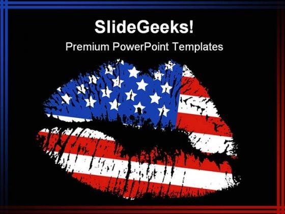 Patriotic Love Americana PowerPoint Template 1010