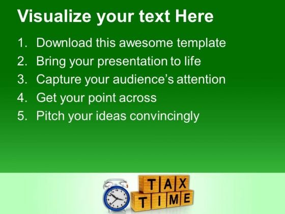 pay your tax on time powerpoint templates ppt backgrounds for, Modern powerpoint