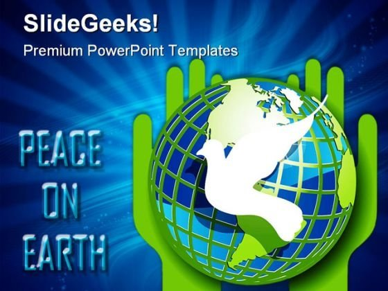 Peace On Earth Globe PowerPoint Templates And PowerPoint Backgrounds 0311