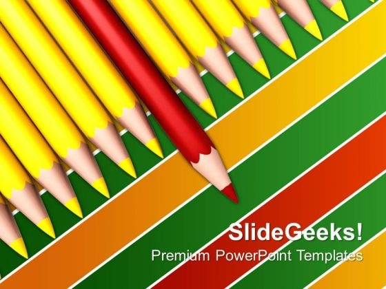 Pencils Be Different Education PowerPoint Templates And PowerPoint Themes 0712