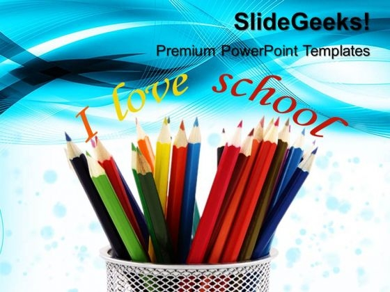 Pencils Education PowerPoint Templates And PowerPoint Themes 0512