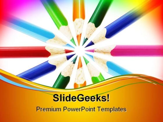 Pencils Education PowerPoint Themes And PowerPoint Slides 0711