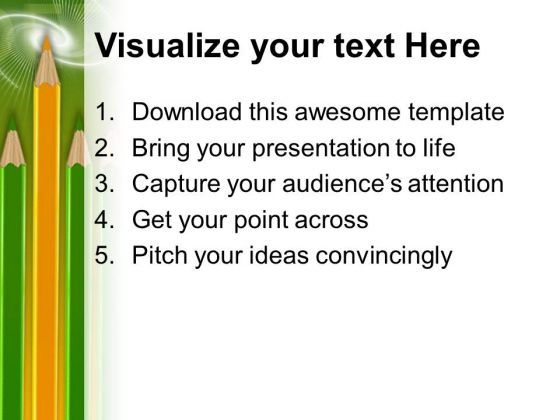 Pencils Leadership Powerpoint Templates And Powerpoint