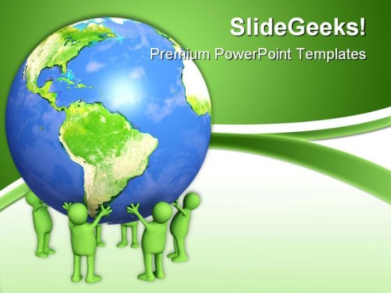 People Holding Earth PowerPoint Templates And PowerPoint Backgrounds 0311
