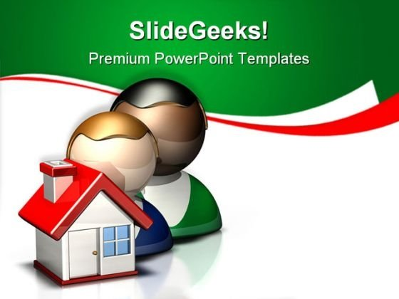 People Icon Home Real Estate PowerPoint Templates And PowerPoint Backgrounds 0911