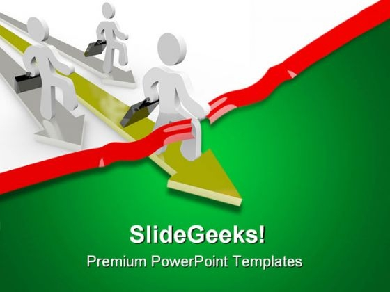 People Race Across Business PowerPoint Themes And PowerPoint Slides 0611
