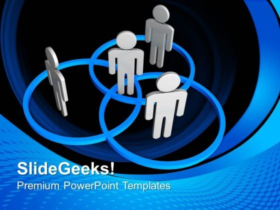 People Stand In Circle Communication PowerPoint Templates And PowerPoint Themes 0712