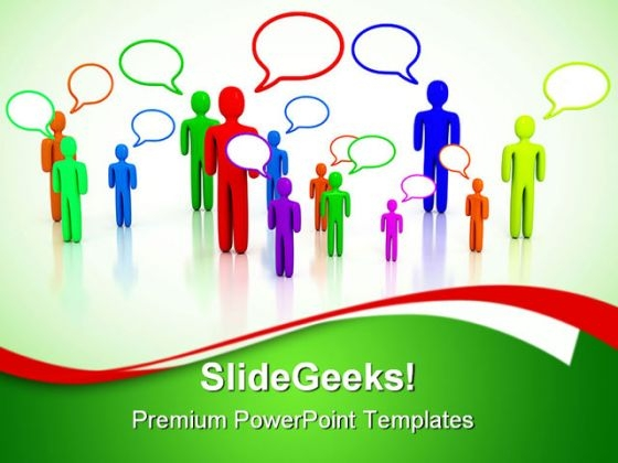 People Talking Communication PowerPoint Themes And PowerPoint Slides 0311