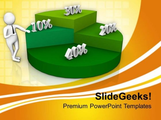 Percent Proportion Pie Chart PowerPoint Templates Ppt Backgrounds For Slides 0813