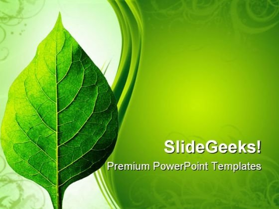 Perfect Leaf Nature PowerPoint Themes And PowerPoint Slides 0511