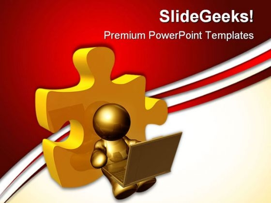 Person Browsing Securely Internet PowerPoint Themes And PowerPoint Slides 0511