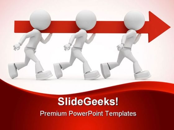 Person Carrying Arrow Metaphor PowerPoint Themes And PowerPoint Slides 0511
