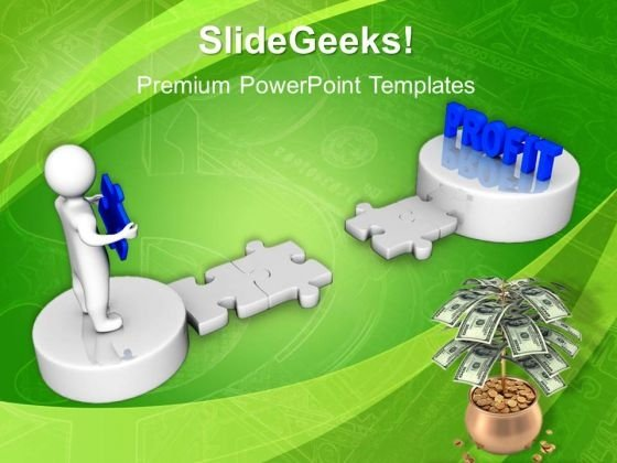 Person Holding Solution Puzzle Business PowerPoint Templates And PowerPoint Themes 1012