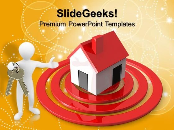 Person Home Target Business PowerPoint Templates And PowerPoint Themes 0712