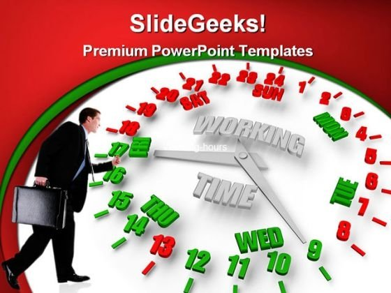 Person Looking Work Week Clock Business PowerPoint Themes And PowerPoint Slides 0311