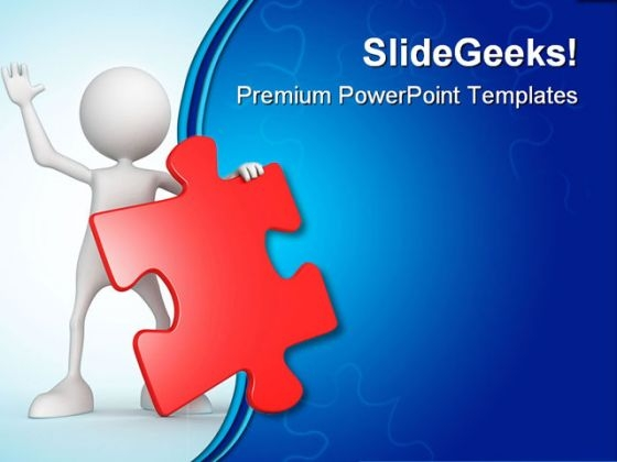 Person With Puzzle Business PowerPoint Themes And PowerPoint Slides 0411