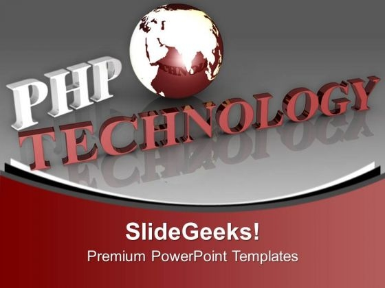 Php Is New Technology PowerPoint Templates Ppt Backgrounds For Slides 0613