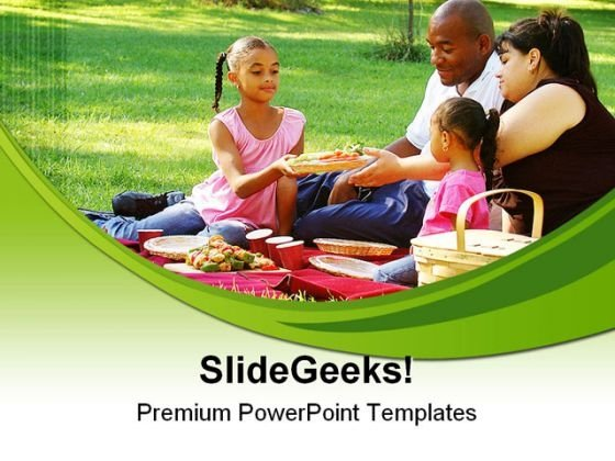 Picnic In The Park Family PowerPoint Templates And PowerPoint Backgrounds 0311