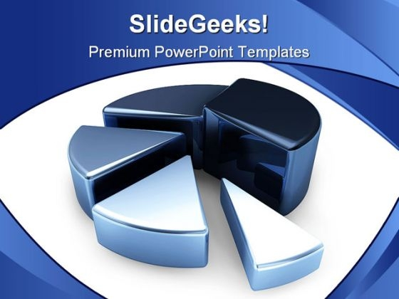 Pie Chart Business PowerPoint Background And Template 1210
