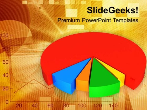 Pie Chart For Business Graph PowerPoint Templates Ppt Backgrounds For Slides 0413