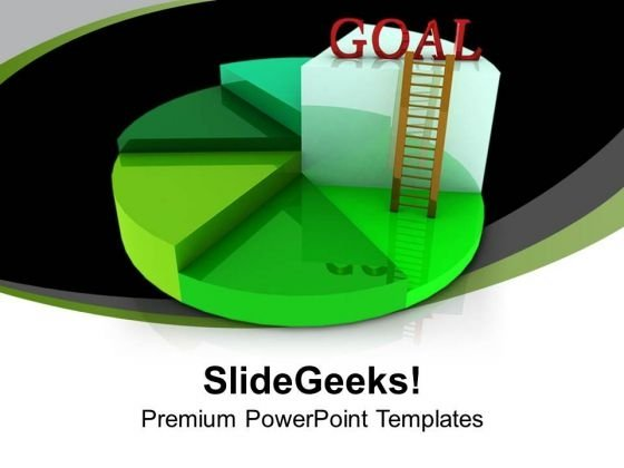 Pie Chart For Goal Achivement PowerPoint Templates Ppt Backgrounds For Slides 0313