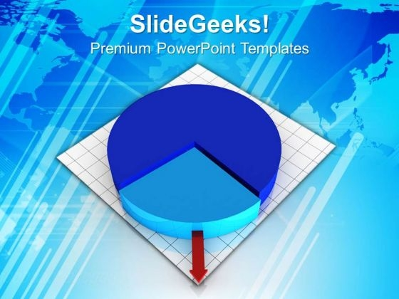 Pie Chart Growth Business Factors PowerPoint Templates Ppt Backgrounds For Slides 0313