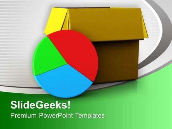 Pie Chart Out Of Box Business Concept PowerPoint Templates Ppt Backgrounds For Slides 0313