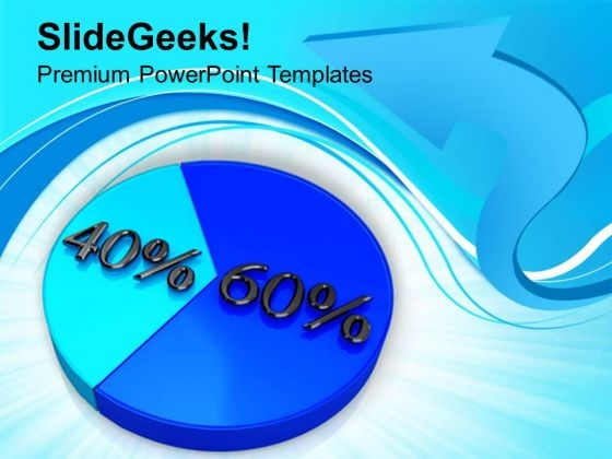 Pie Chart With 60 40 Percentage Marketing PowerPoint Templates Ppt Backgrounds For Slides 0213