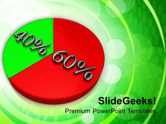 Pie Chart With 60 40 Percentage Success PowerPoint Templates Ppt Backgrounds For Slides 0213