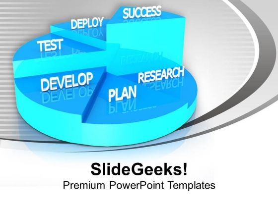Pie Graph For Business Growth PowerPoint Templates Ppt Backgrounds For Slides 0413