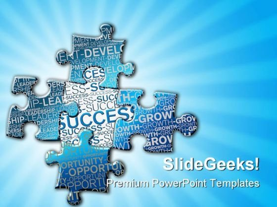 Pieces Of Puzzle Success PowerPoint Themes And PowerPoint Slides 0411
