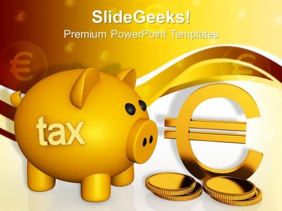Piggy Bank Concept Money PowerPoint Templates And PowerPoint Themes 1012