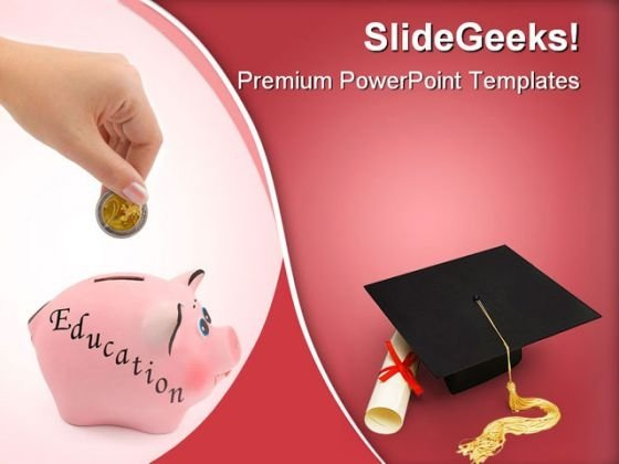 Piggy Bank Education PowerPoint Templates And PowerPoint Backgrounds 0411