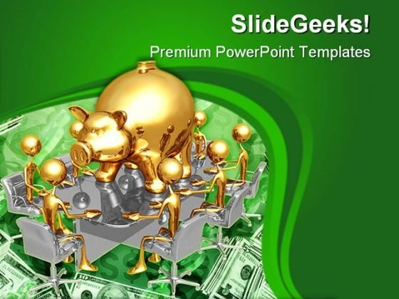 Piggy Bank Meeting Money PowerPoint Templates And PowerPoint Backgrounds 0611